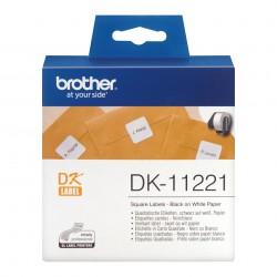 Brother - Etiquetas precortadas cuadradas papel trmico