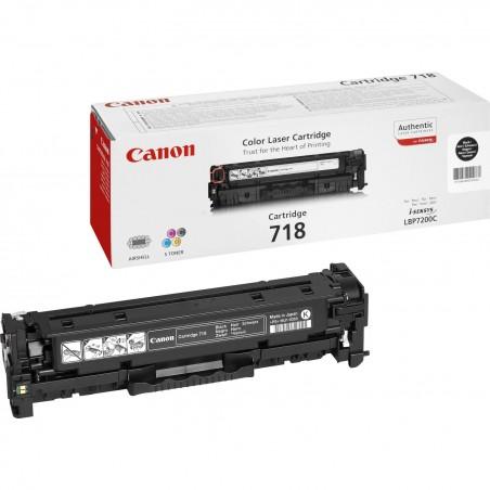 Canon - CRG-718 Bk Original Negro 1 piezas
