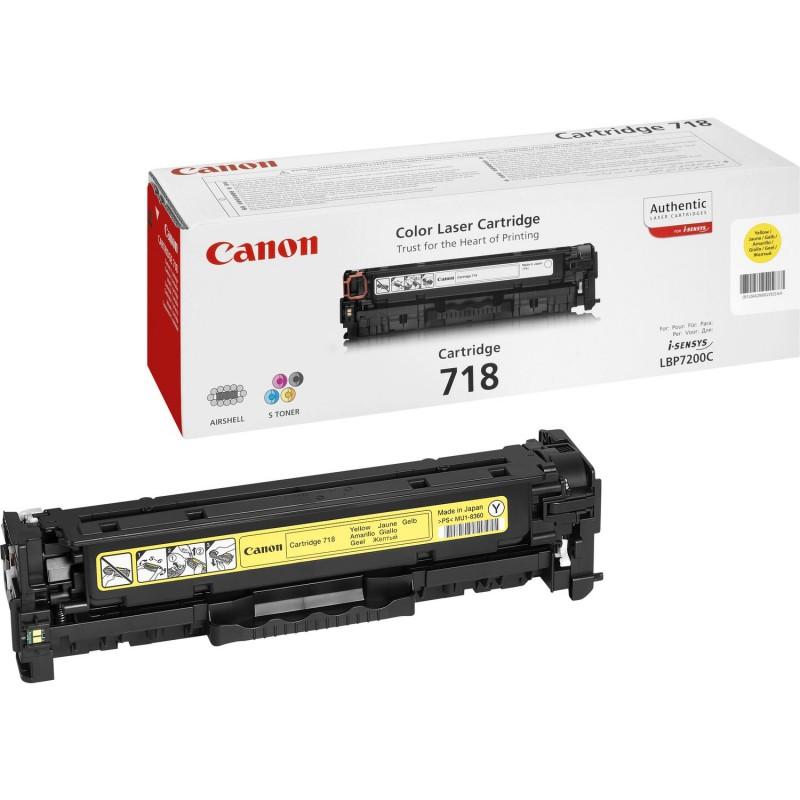 Canon - CRG-718 Y Original Amarillo 1 piezas