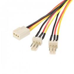 StarTechcom - Cable de 30cm multiplicador divisor de alimentacin TX3 para Ventiladores