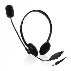 Ewent - EW3567 auricular y casco Auriculares Diadema Conector de 35 mm Negro