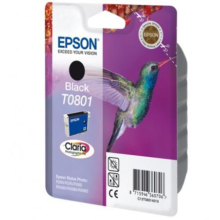 Epson - Hummingbird Singlepack Black T0801 Claria Photographic Ink