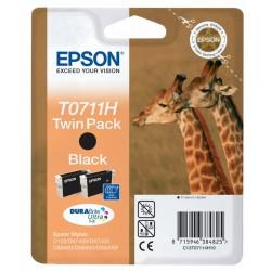 Epson - Giraffe Doble juego de cartuchos Negro T0711H Tintas DURABrite Ultra