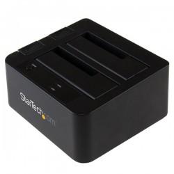 StarTechcom - Base de Conexin USB 31 10Gbps con UAS de 2 Bahas para Disco Duro o SSD SATA de 25 o 35 Pulgadas