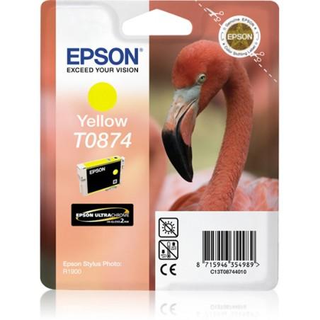 Epson - Flamingo Cartucho T0874 amarillo