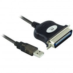 Ewent - EW1118 adaptador de cable USB IEEE1284 Negro