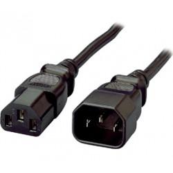 Equip - 112100 cable de transmisin Negro 18 m C13 acoplador C14 acoplador