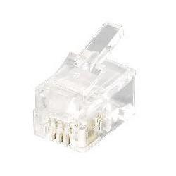 Equip - 121111 conector RJ-11 4P4C Transparente