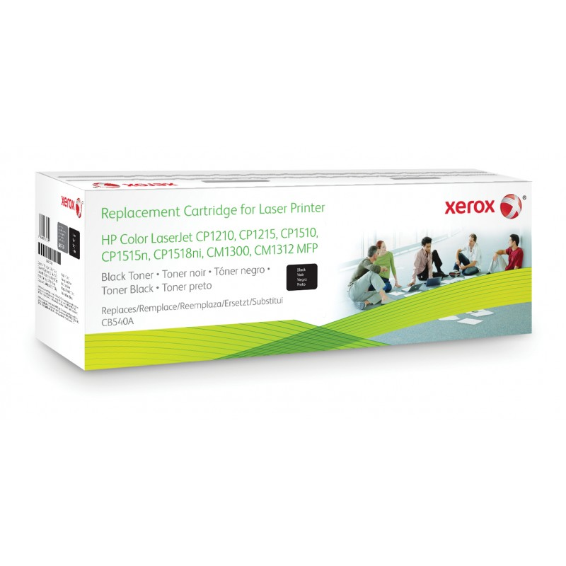 Xerox - Cartucho de tner negro Equivalente a HP CB540A Compatible con HP Colour LaserJet CM1312 MFP Colour LaserJet CM1525