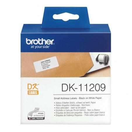 Brother - Etiquetas precortadas de direccin pequeas papel trmico