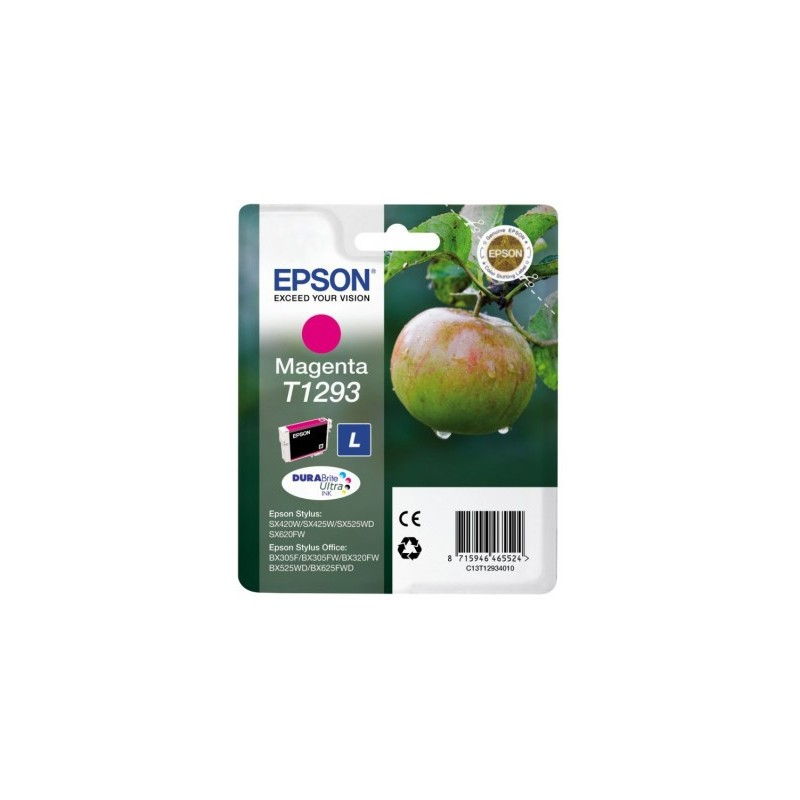 Epson - Apple Singlepack Magenta T1293 DURABrite Ultra Ink - C13T12934010