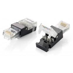 Equip - 121165 conector RJ-45 Negro Transparente