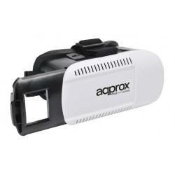 Approx - appVR01 Gafas de realidad virtual 360g Negro Color blanco