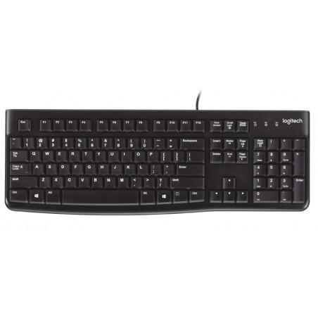 Logitech - K120 teclado USB QWERTY Espaol Negro - 920-002518