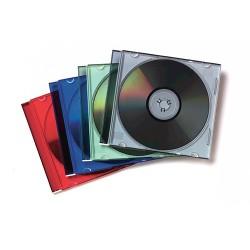 Fellowes - 98317 funda para discos pticos Caja transparente para CD 1 discos Multicolor