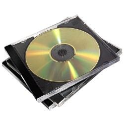 Fellowes - 98310 funda para discos pticos Caja transparente para CD 2 discos Negro Transparente