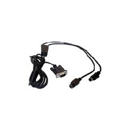 Datalogic - CAB-320 RS-232 Straight 25-Pin DTE cable de seal Negro