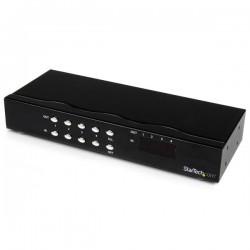 StarTechcom - Conmutador Matrix VGA de 4 Puertos 4x4 con Audio - Switch Selector