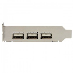 StarTechcom - Adaptador Tarjeta PCI Express Perfil Bajo USB 20 Alta Velocidad - 3 Externos y 1 Interno