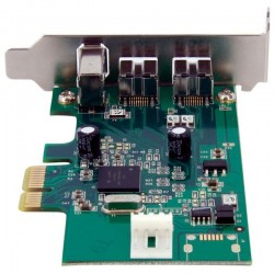 StarTechcom - Adaptador Tarjeta FireWire PCI-Express Bajo Perfil de 2 Puertos F/W 800 y 1 Puerto F/W 400