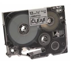 Brother - Black on Clear Gloss Laminated Tape 12mm cinta para impresora de etiquetas TZ
