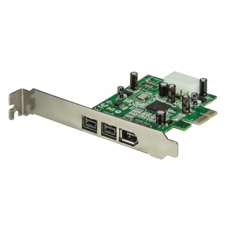 StarTechcom - Adaptador Tarjeta FireWire PCI-Express PCI-e de 2 Puertos F/W 800 y 1 Puerto F/W 400