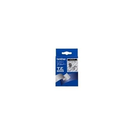 Brother - Black on Clear Gloss Laminated Tape 9mm cinta para impresora de etiquetas TZ