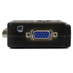 StarTechcom - Juego de Conmutador KVM de 2 puertos con todo incluido - USB - Audio y Vdeo VGA