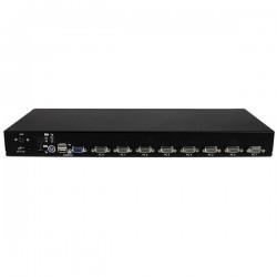 StarTechcom - Conmutador Switch KVM 8 Puertos de Vdeo VGA HD15 USB 20 USB A PS/2 - 1U Rack Estante