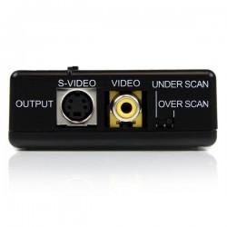 StarTechcom - Adaptador Conversor de Vdeo VGA HD15 a Vdeo Compuesto RCA o S-Video - Composite - Convertidor PC a TV