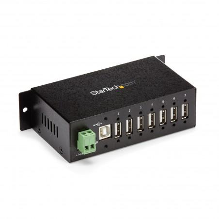 StarTechcom - Hub Industrial de 7 Puertos USB 20 con Proteccin Antiesttica ESD y Proteccin de Picos de 350W