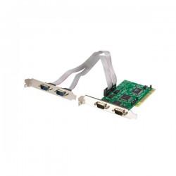 StarTechcom - Tarjeta Adaptadora PCI de 4 Puertos Serie RS232 DB9 UART 16550 - Doble Voltaje