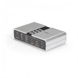 StarTechcom - Tarjeta de Sonido 71 USB Externa Adaptador Conversor puerto SPDIF Audio Digital ptico