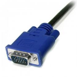 StarTechcom - Cable KVM de 18m Ultra Delgado Todo en Uno VGA PS/2 PS2 HD15 - 6ft Pies 3 en 1