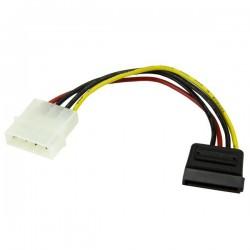 StarTechcom - Cable Adaptador de 15cm de Alimentacin MOLEX LP4 4 Pines a SATA 15 Pines