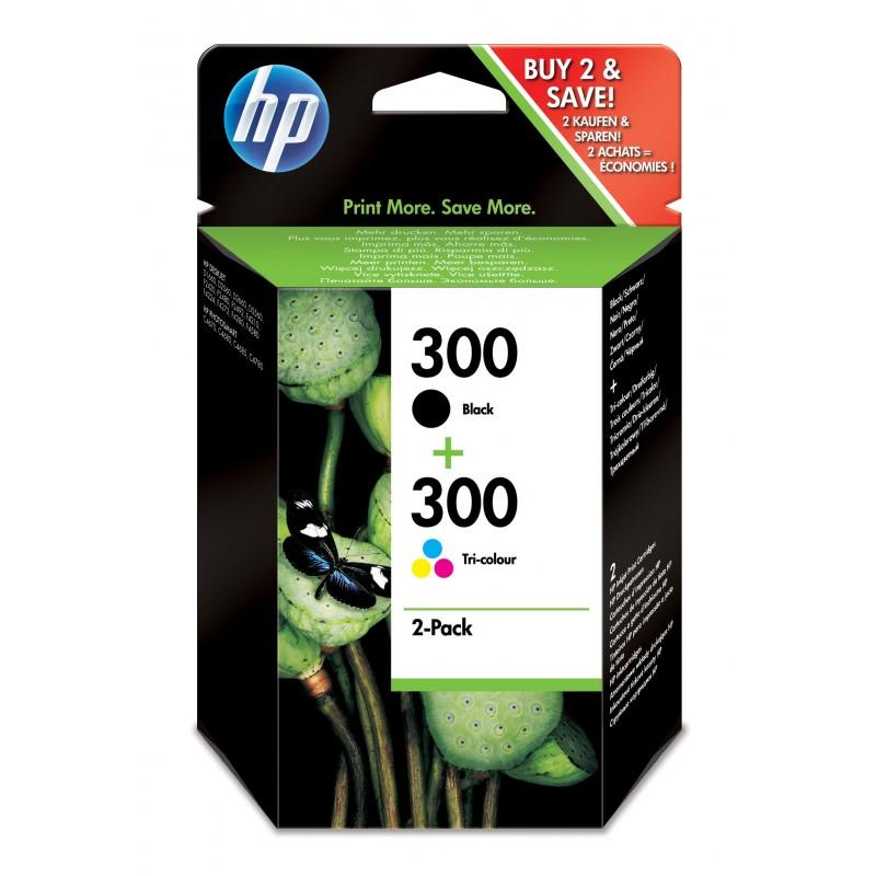 HP - 300 2 piezas Original Alto rendimiento XL Negro Cian Magenta Amarillo