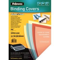 Fellowes - 53764 cubierta A3 PVC Transparente 100 piezas
