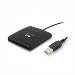 Ewent - EW1052 lector de tarjeta inteligente USB 20 Negro