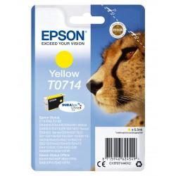 Epson - Cartucho T0714 amarillo etiqueta RF