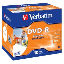 Verbatim - 43521 DVD en blanco 47 GB DVD-R 10 piezas