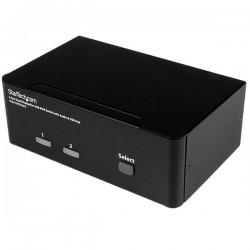 StarTechcom - Switch Conmutador KVM de 2 Puertos DisplayPort - 4K 60Hz