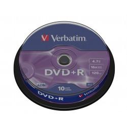 Verbatim - DVDR Matt Silver 47 GB 10 piezas
