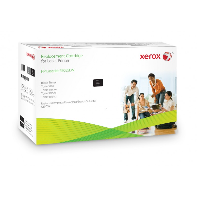 Xerox - Cartucho de tner negro Equivalente a HP CE505X Compatible con HP LaserJet P2055