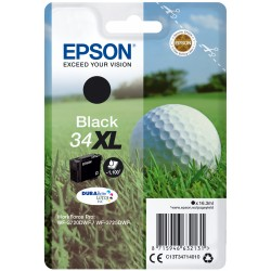 Epson - Golf ball Singlepack Black 34XL DURABrite Ultra Ink - C13T34714010
