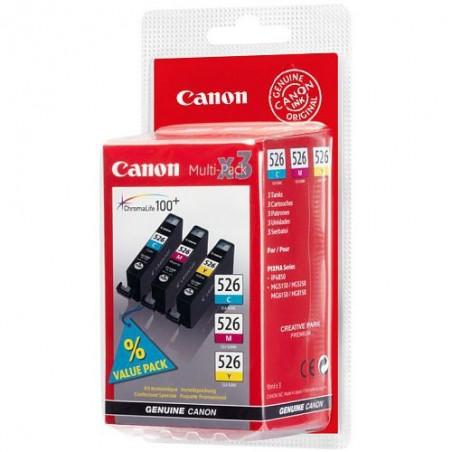 Canon - CLI-526 C/M/Y Pack Original Cian Magenta Amarillo 1 piezas