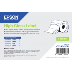 Epson - High Gloss Label - Die-cut Roll 76mm x 127mm 960 labels