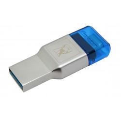 Kingston Technology - MobileLite Duo 3C lector de tarjeta Azul Plata USB 32 Gen 1 31 Gen 1 Type-A/Type-C