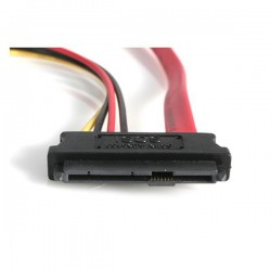 StarTechcom - Adaptador Cable de 45cm Divisor SAS 29 Pines a Molex Macho LP4 y SATA - SFF-8482