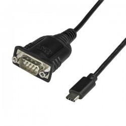 StarTechcom - Adaptador Conversor USB Tipo C a Serie DB9 RS232 con Retencin de Puertos COM - Cable USBC a Serie