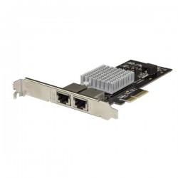 StarTechcom - Tarjeta de Red PCI Express con 2 Puertos 10GBase-T - Tarjeta de Red PCI-E de 10 Gb NBASE-T con Chipset X550